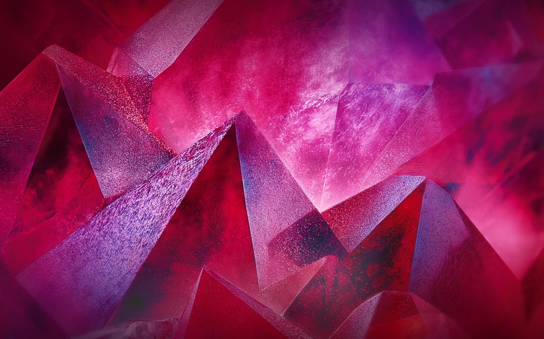 Розовые кристаллы обои скачать