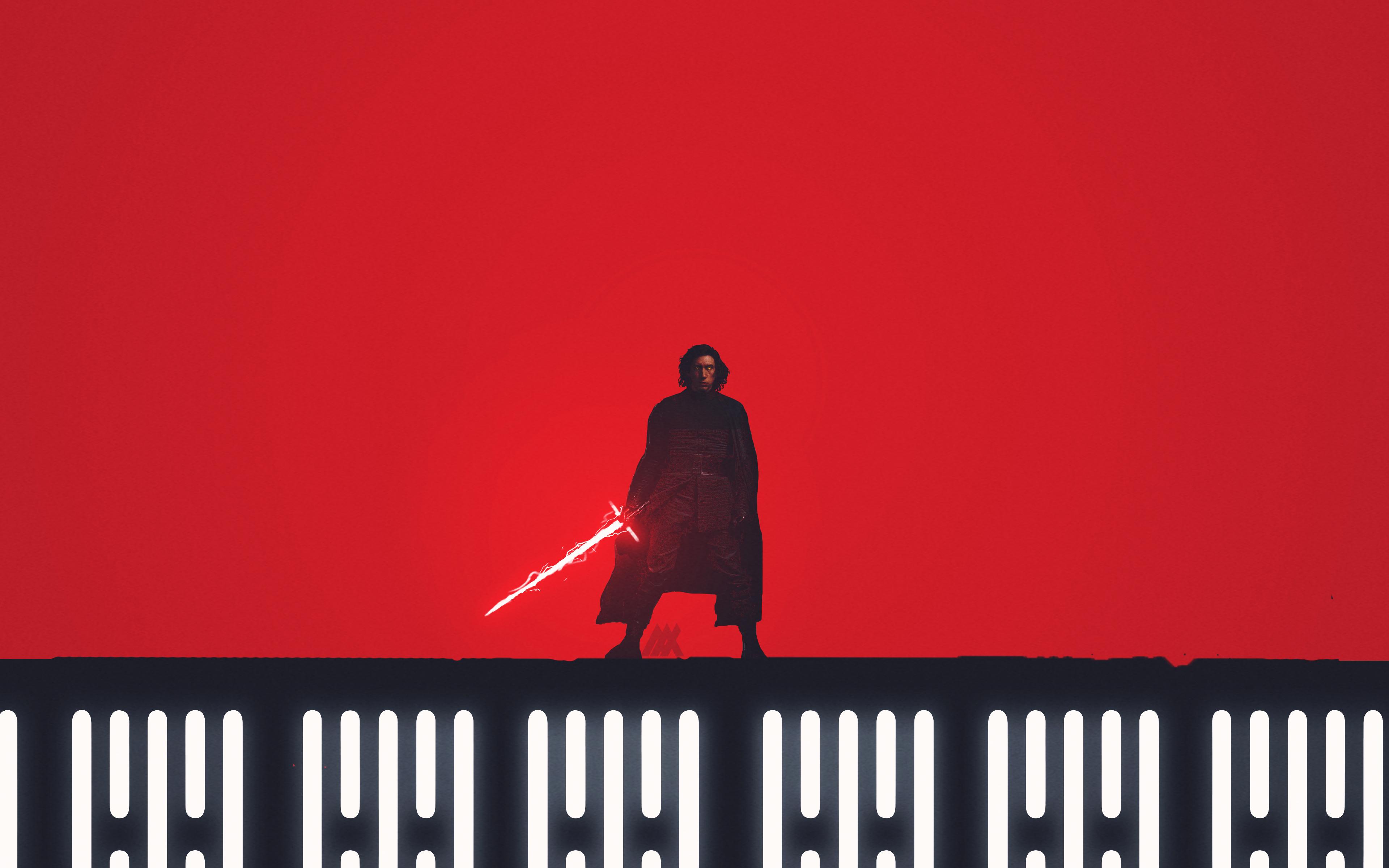 Кайло-kylo РЕН Звездные войны последний джедай художественное произведение обои скачать