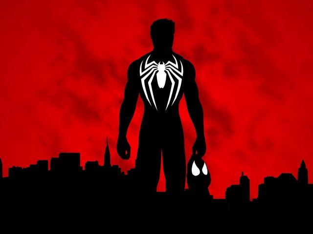 Человек-паук силуэт минимальное произведение искусства