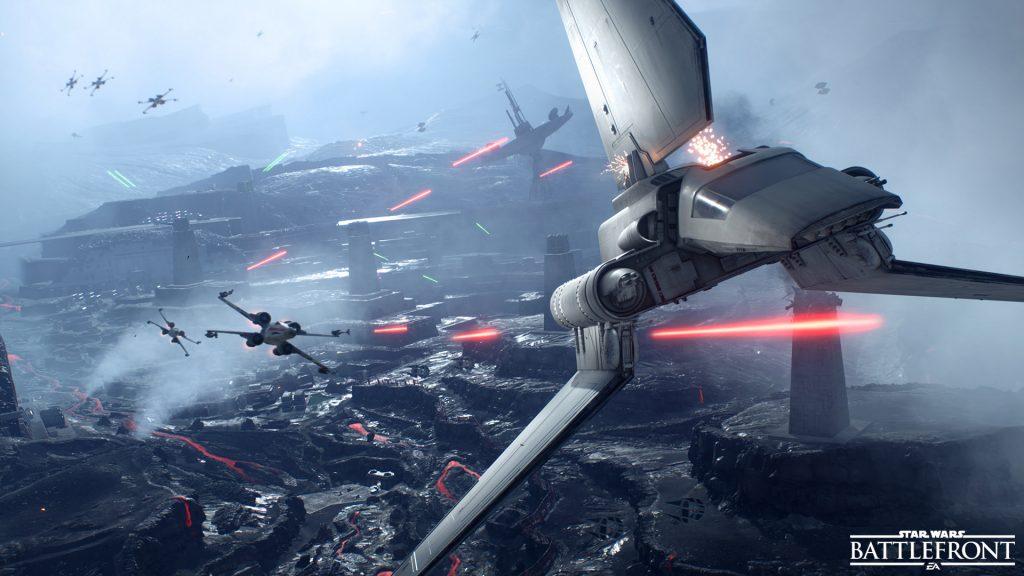 Звездные войны Battlefront истребительной эскадрильи. обои скачать