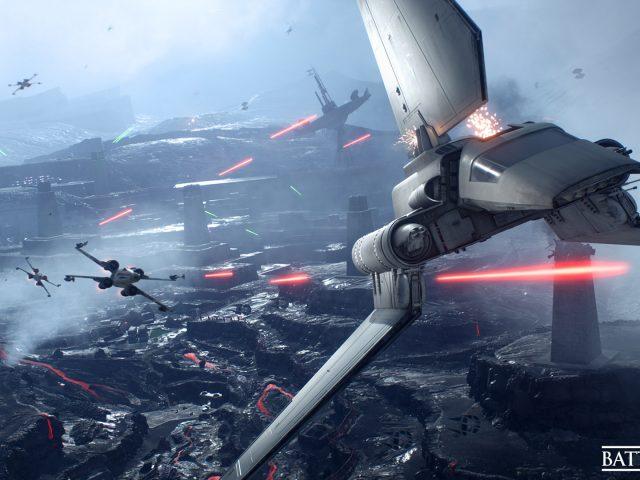Звездные войны Battlefront истребительной эскадрильи.