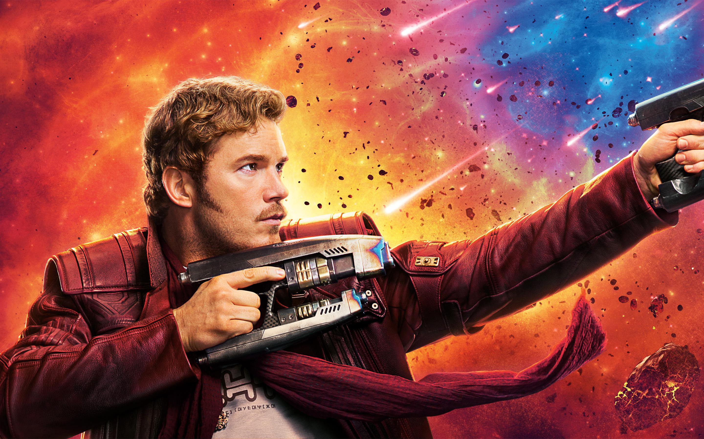 Крис Пратт-Звездный лорд стражи галактики том 2 8к. обои скачать