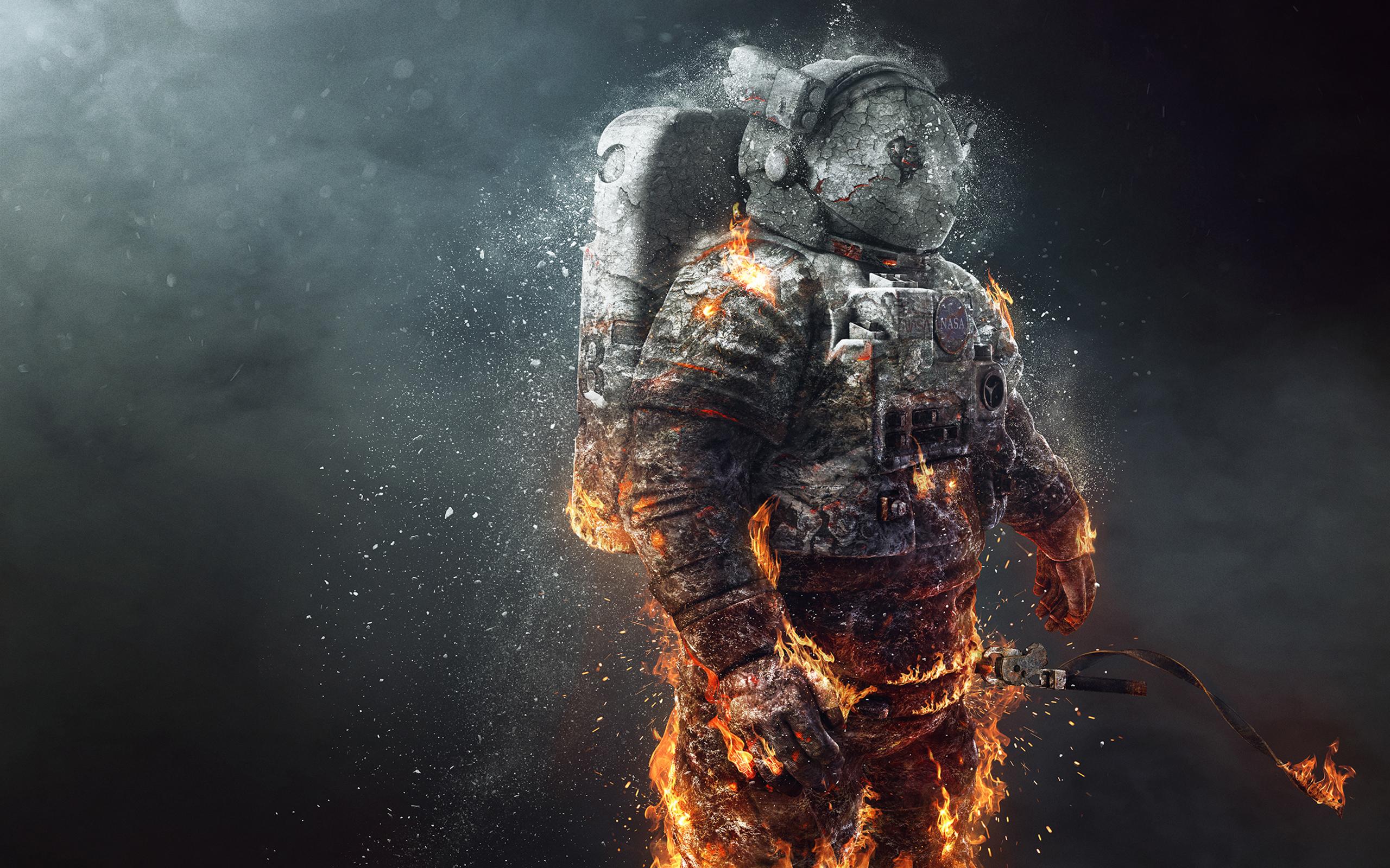 Замороженный астронавт обои скачать
