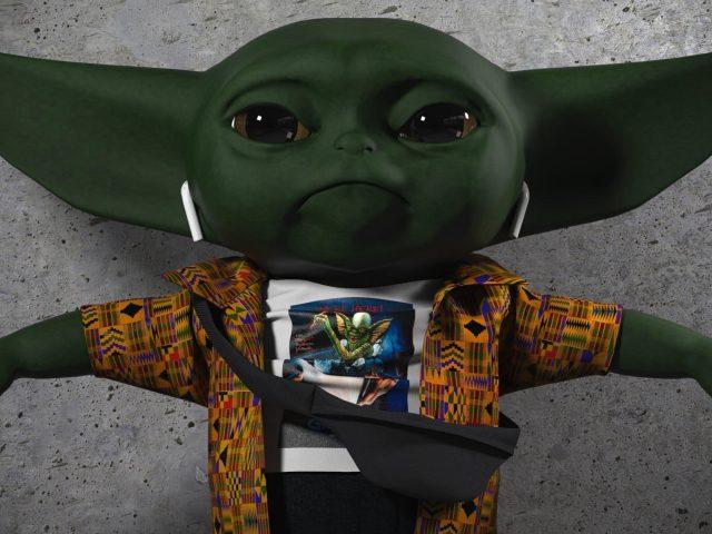 Звездные войны мандалорских ребенка йода зумер в CGI цифровое искусство