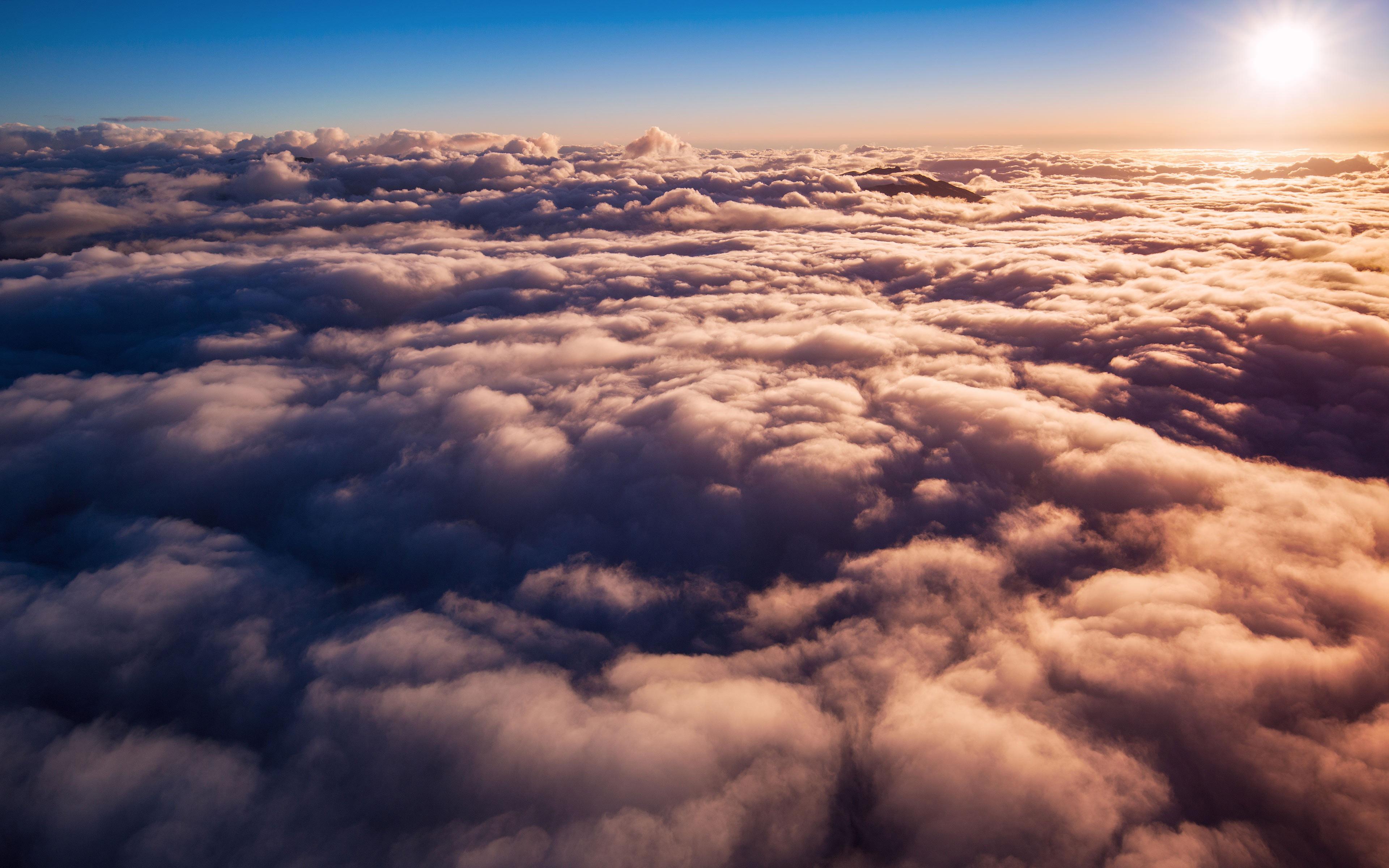 Восход облака обои скачать
