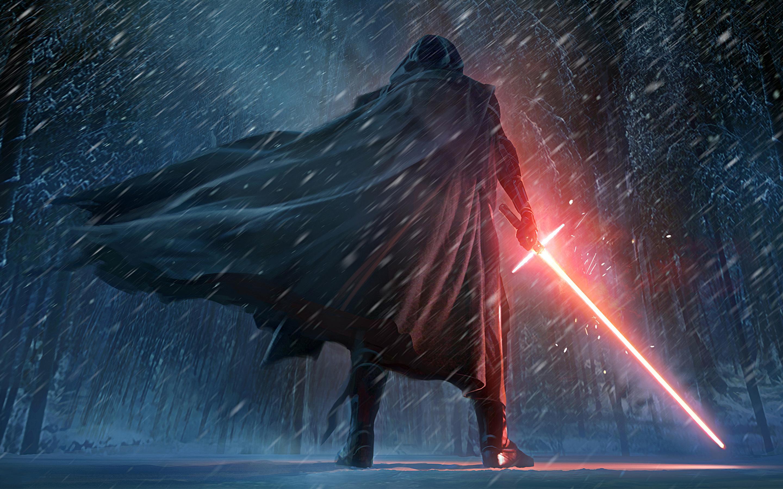 Кайло-kylo РЕН Звездные войны пробуждение силы искусства. обои скачать