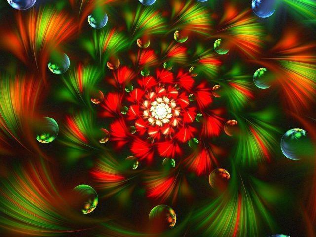 3d фрактал яркий красочный абстрактный абстрактный
