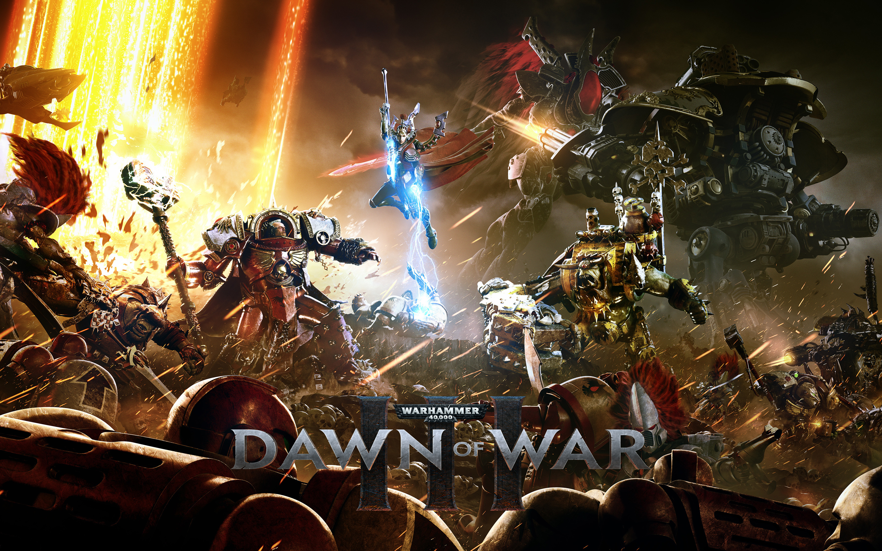 Warhammer 40000 dawn of war iii into the battle. обои скачать