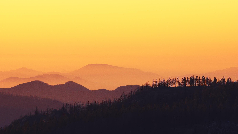 Закатные горы обои скачать
