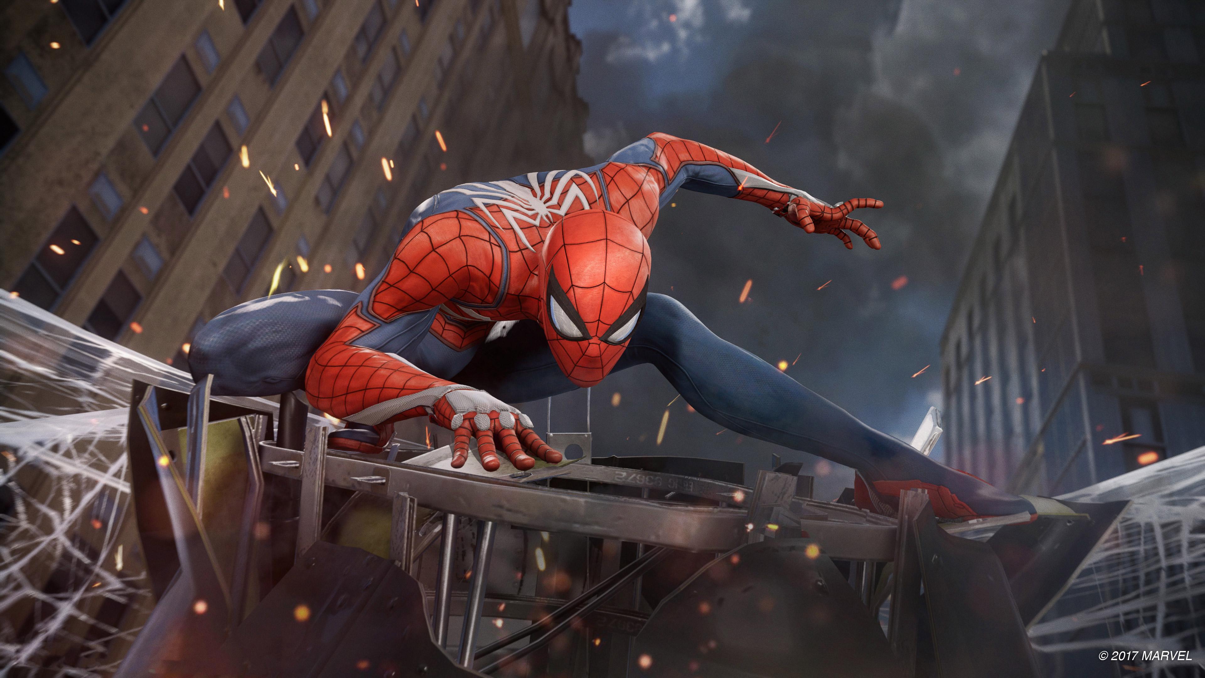Человек-паук PS4 E3 обои скачать
