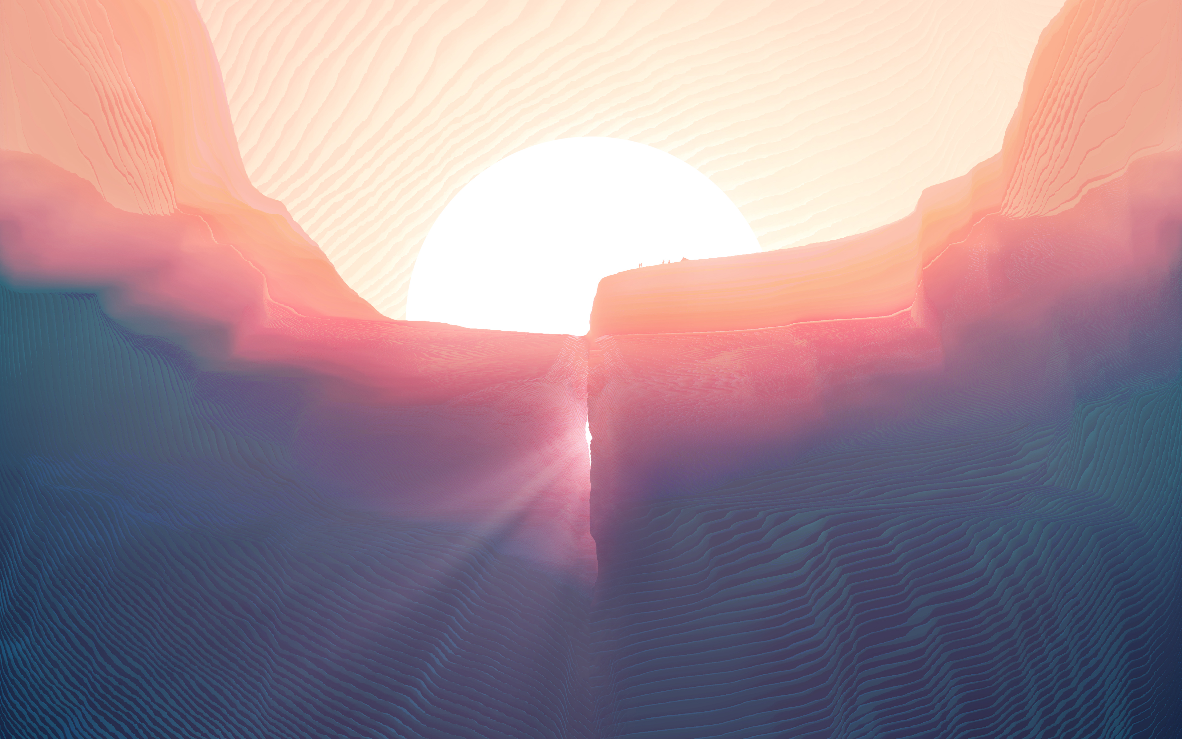 Каньонов долины маринер Марс обои скачать