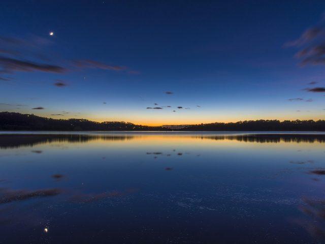 Австралия Озеро тихое утро
