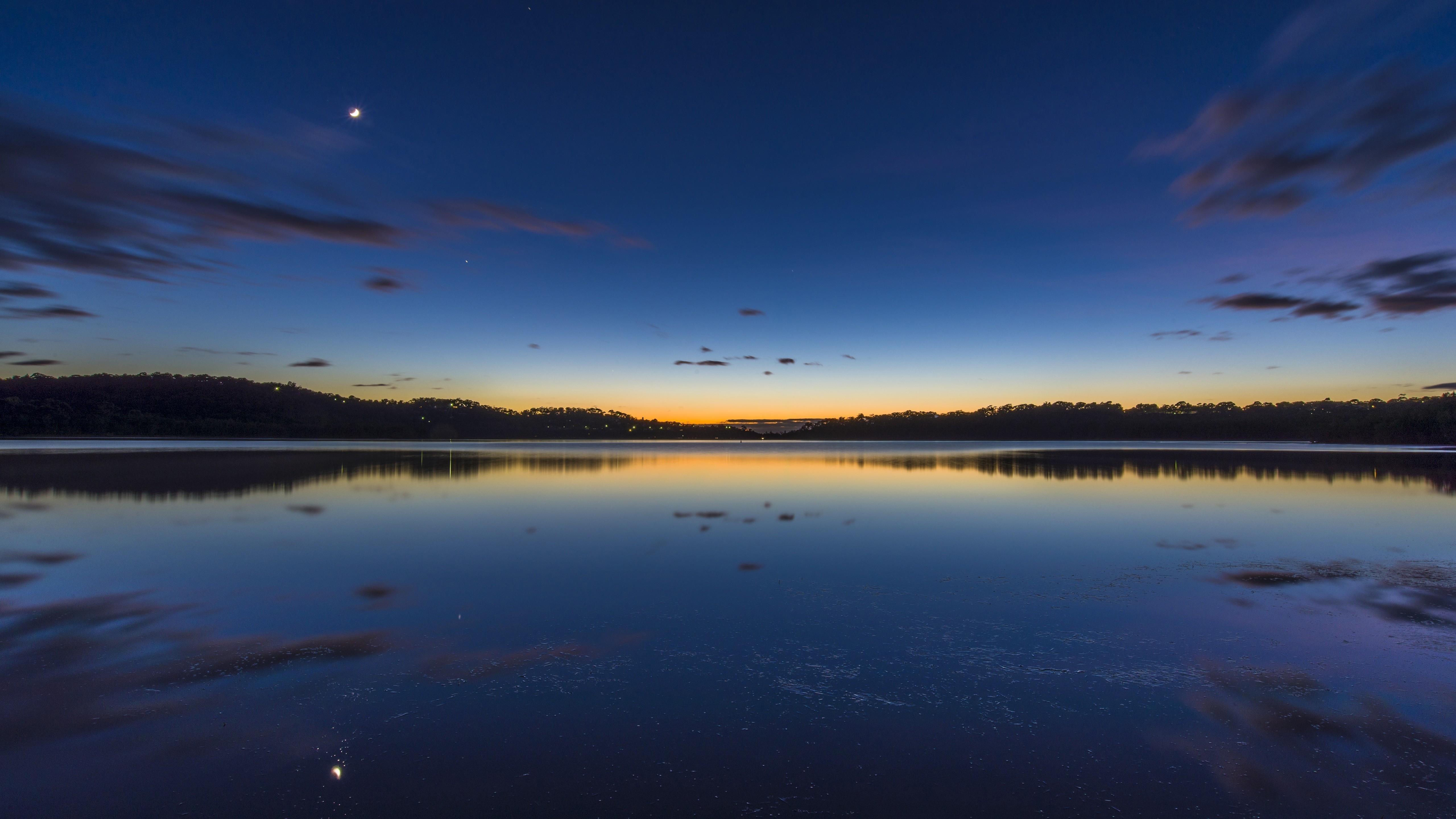 Австралия Озеро тихое утро обои скачать