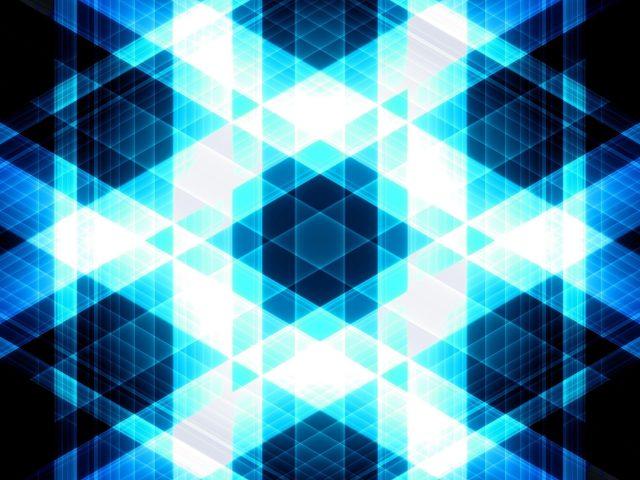 Белые голубые звезды треугольники полосы светятся абстрактно