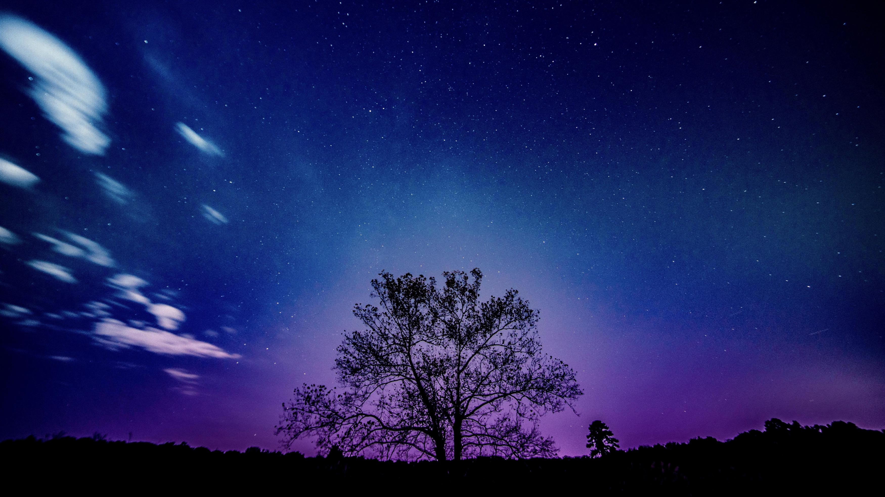 Фиолетовый закат пейзаж обои скачать