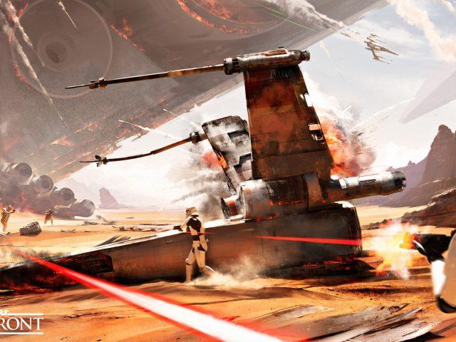 Битва джакку Звездные войны Battlefront.