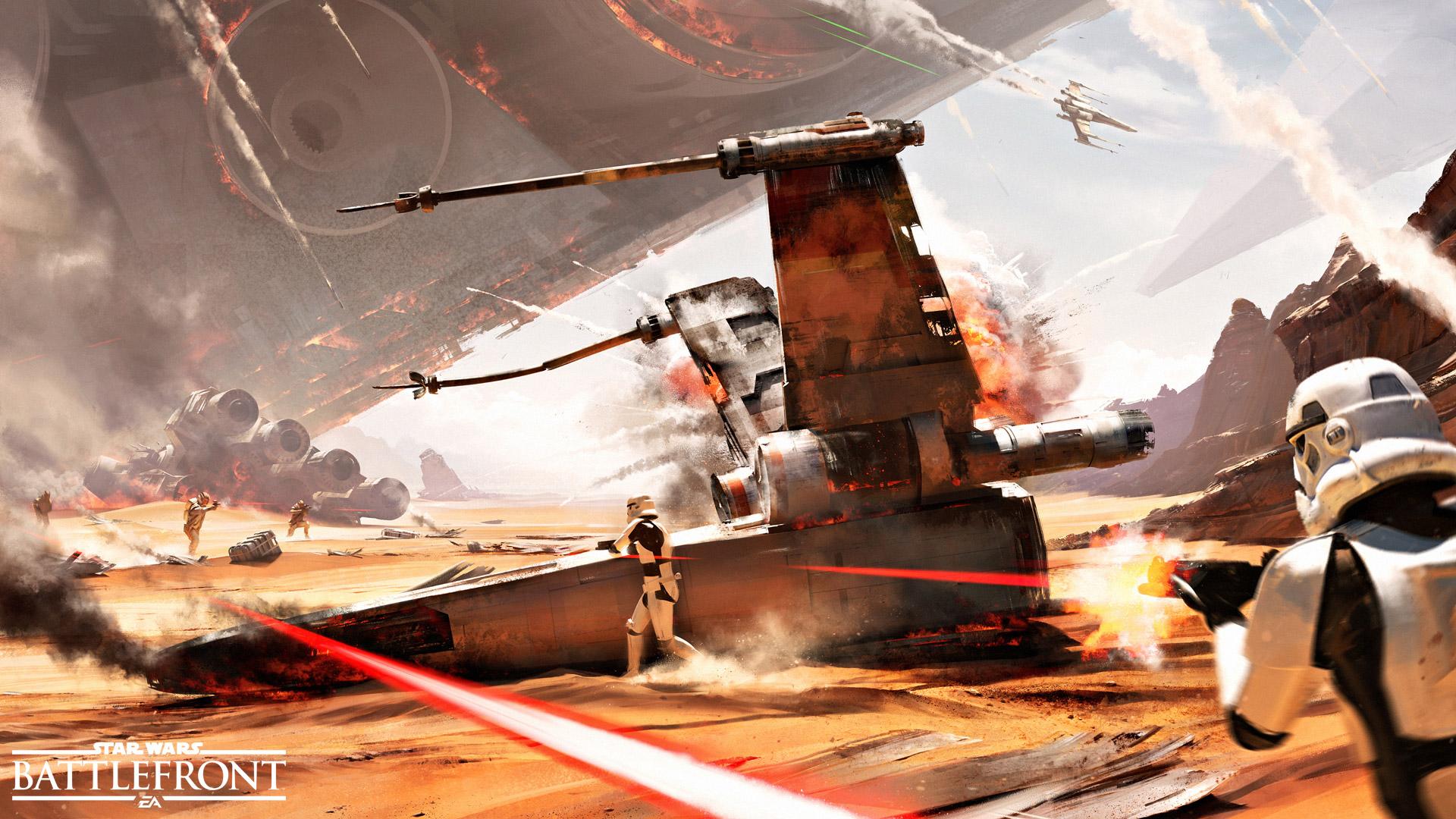 Битва джакку Звездные войны Battlefront. обои скачать