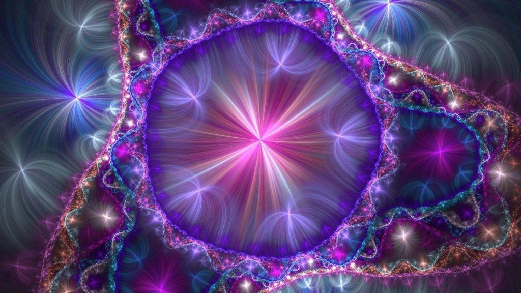 Фиолетовый марди гра арт абстракция обои скачать