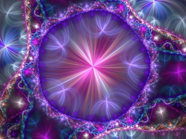 Фиолетовый марди гра арт абстракция