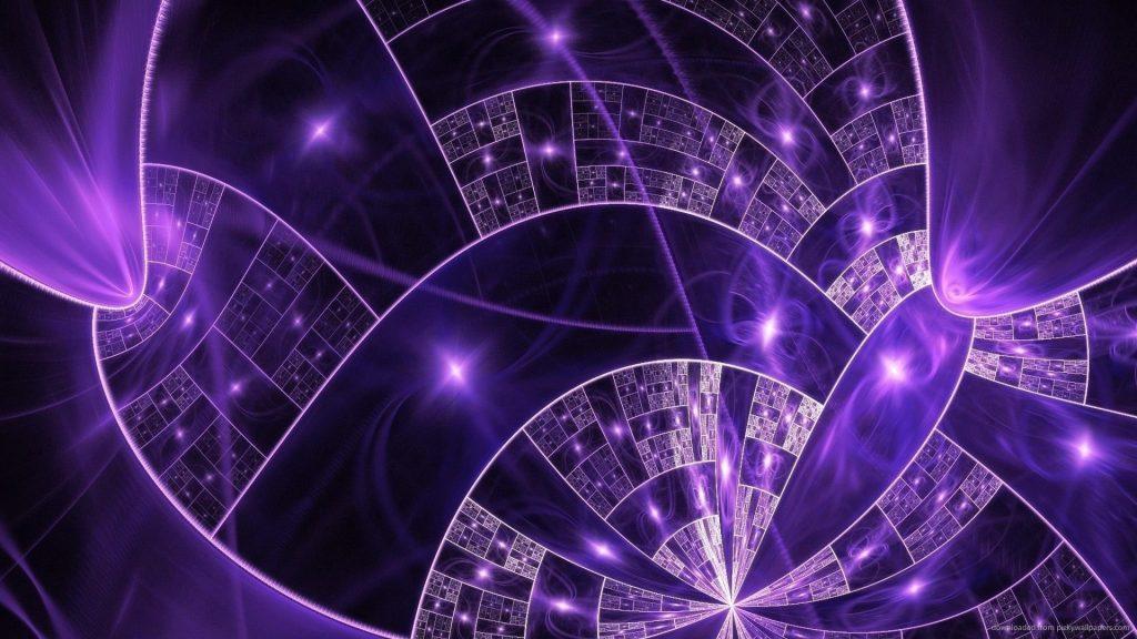 Фиолетовые сверкающие звезды спиральная форма абстракция обои скачать