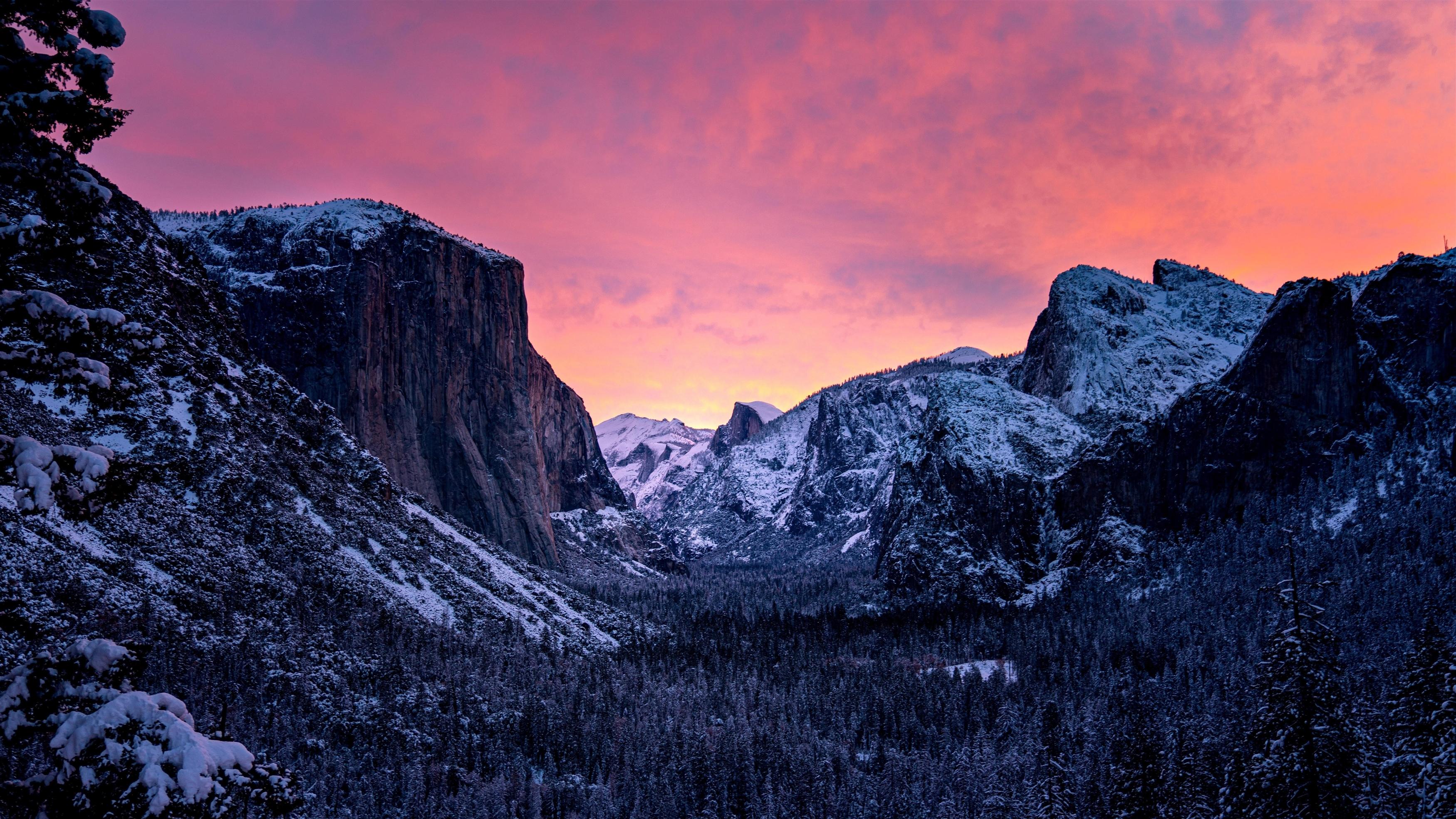 Закат в национальном парке Йосемити обои скачать