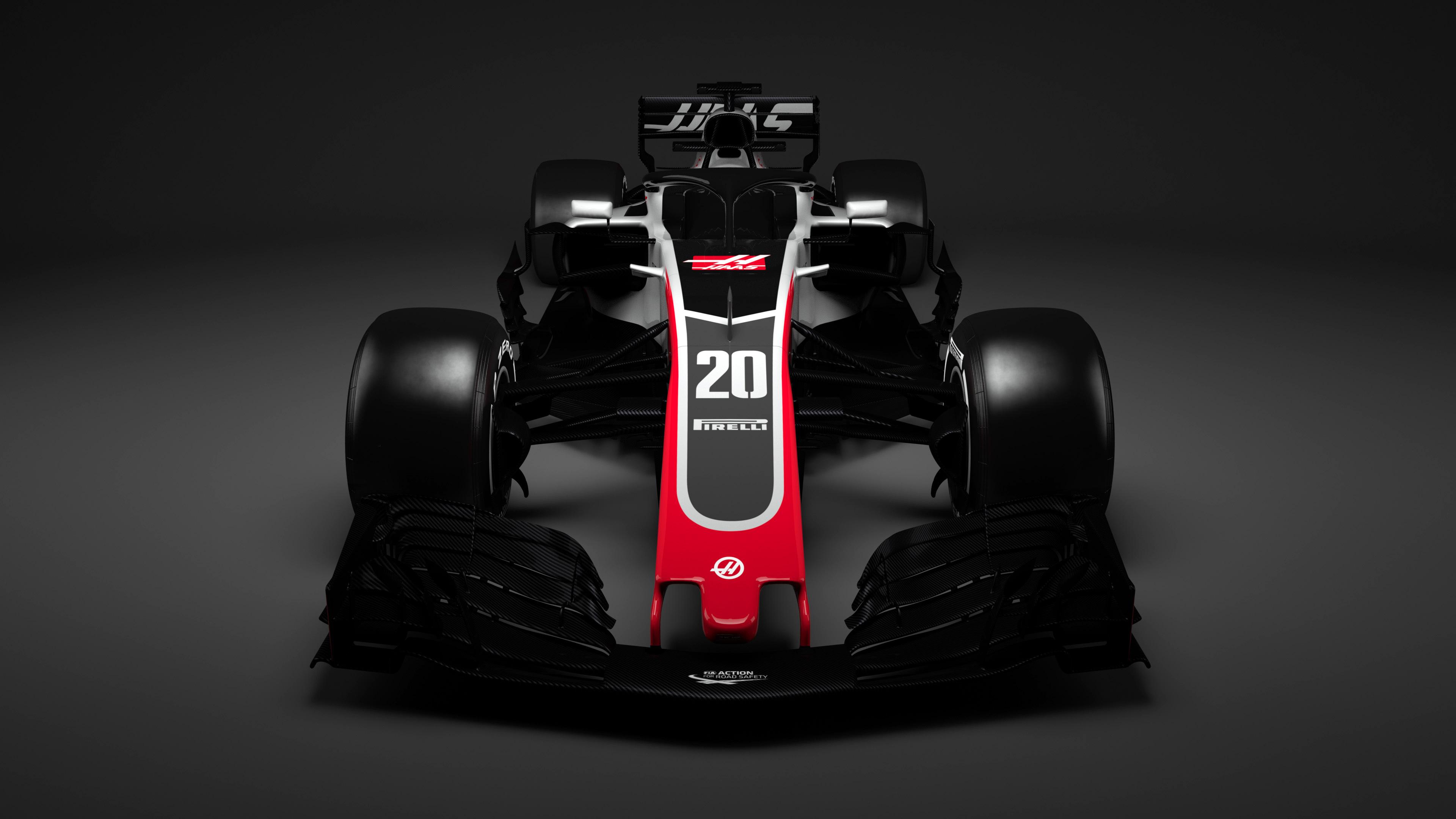Автомобиль Формулы 1 haas обои скачать