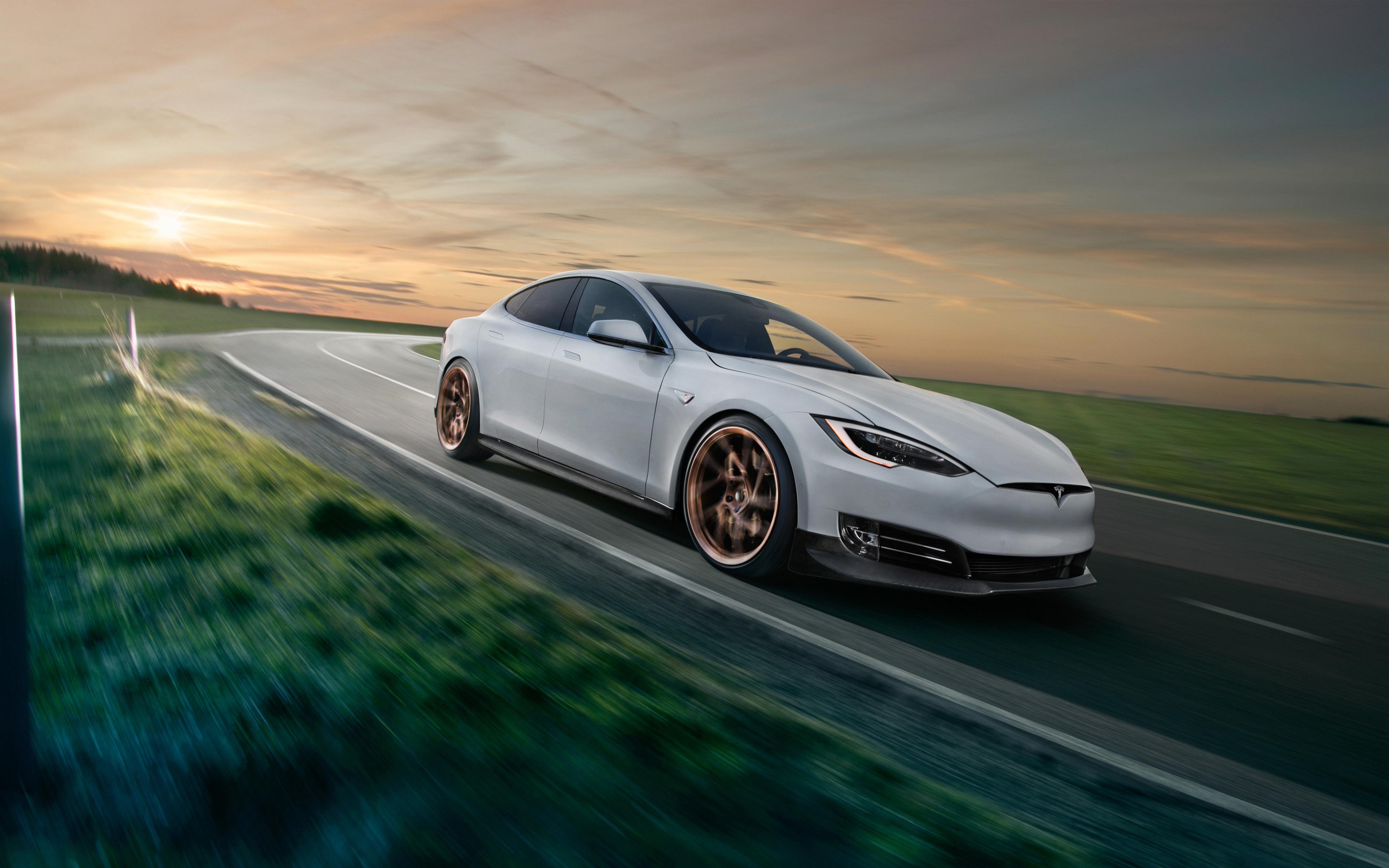 2018 Tesla модель s от novitec обои скачать