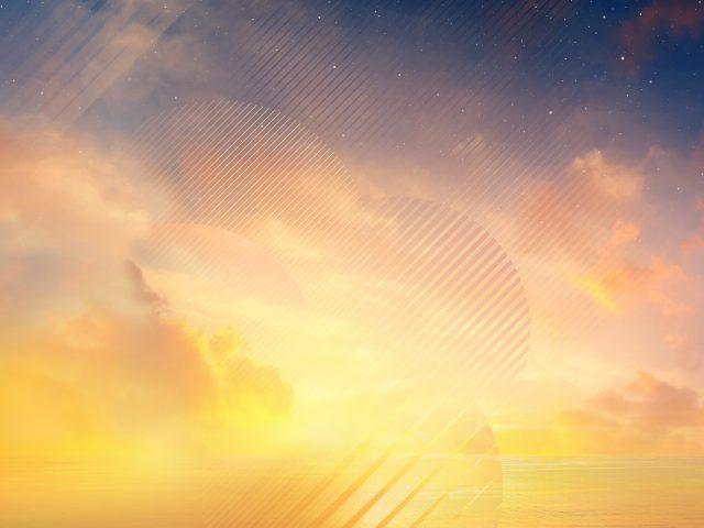 Закат горизонта samsung Galaxy Примечание 8 акций