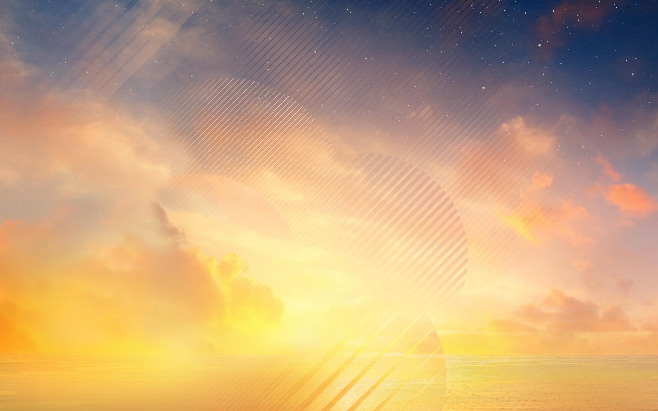Закат горизонта samsung Galaxy Примечание 8 акций обои скачать