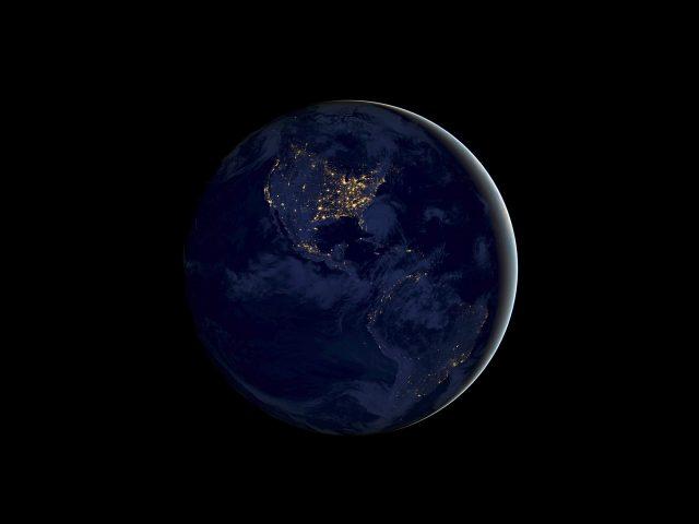 Земля ночь IOS 11 складе