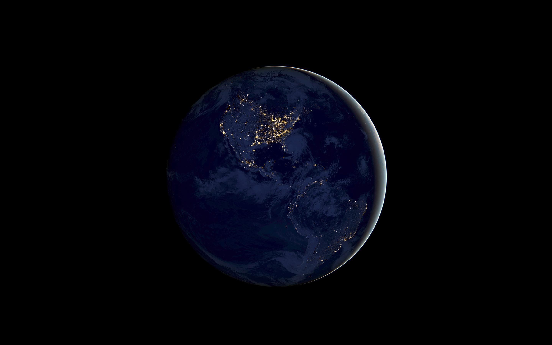 Земля ночь IOS 11 складе обои скачать