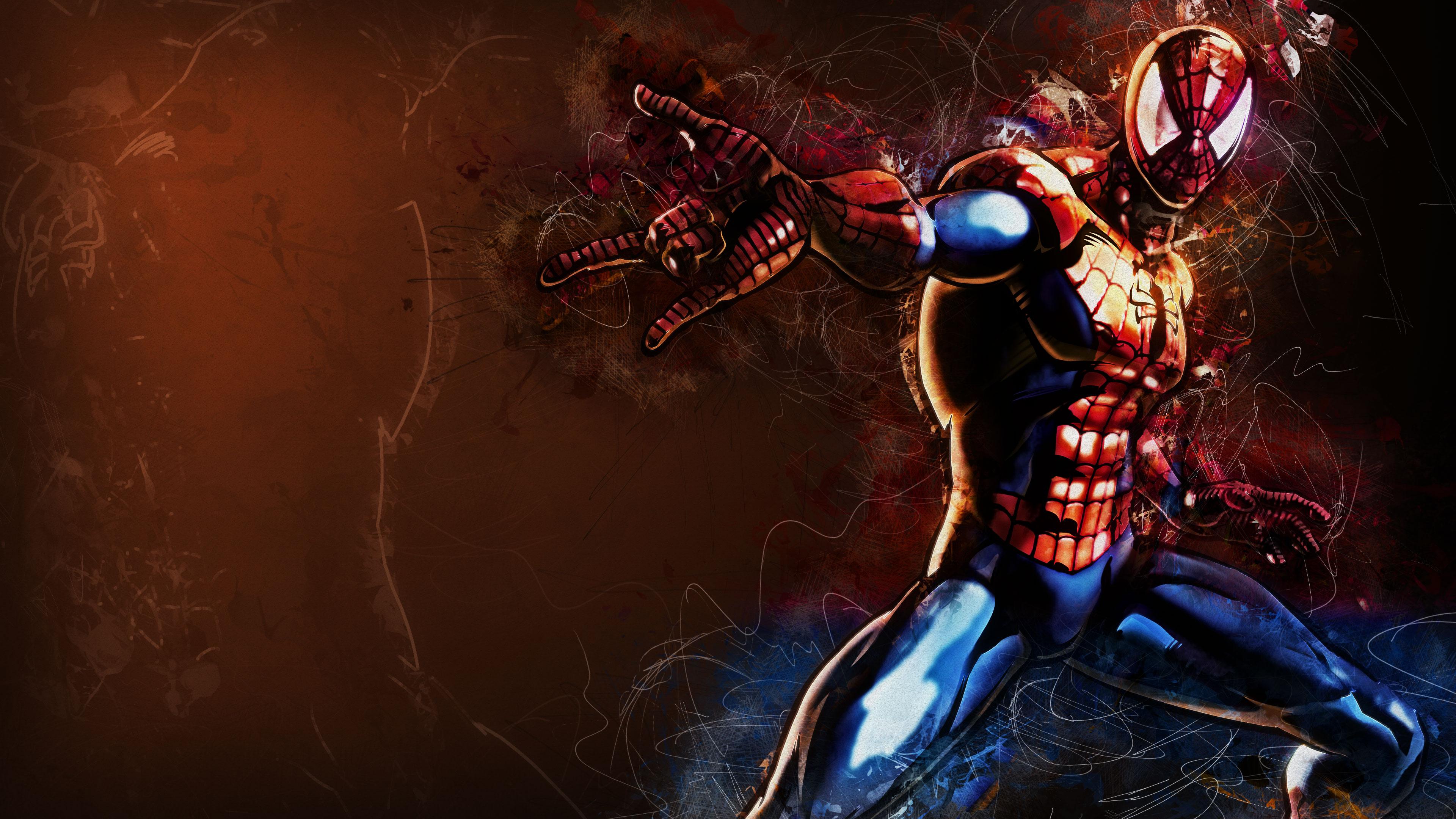 Человек-паук фан-арт обои скачать