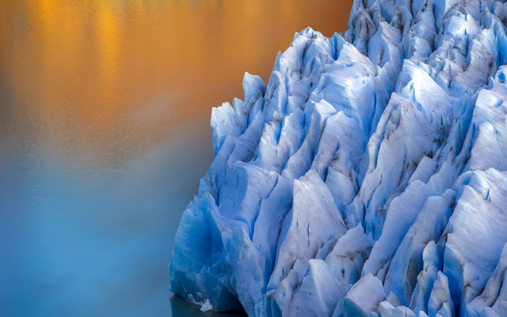 Серый ледник обои скачать