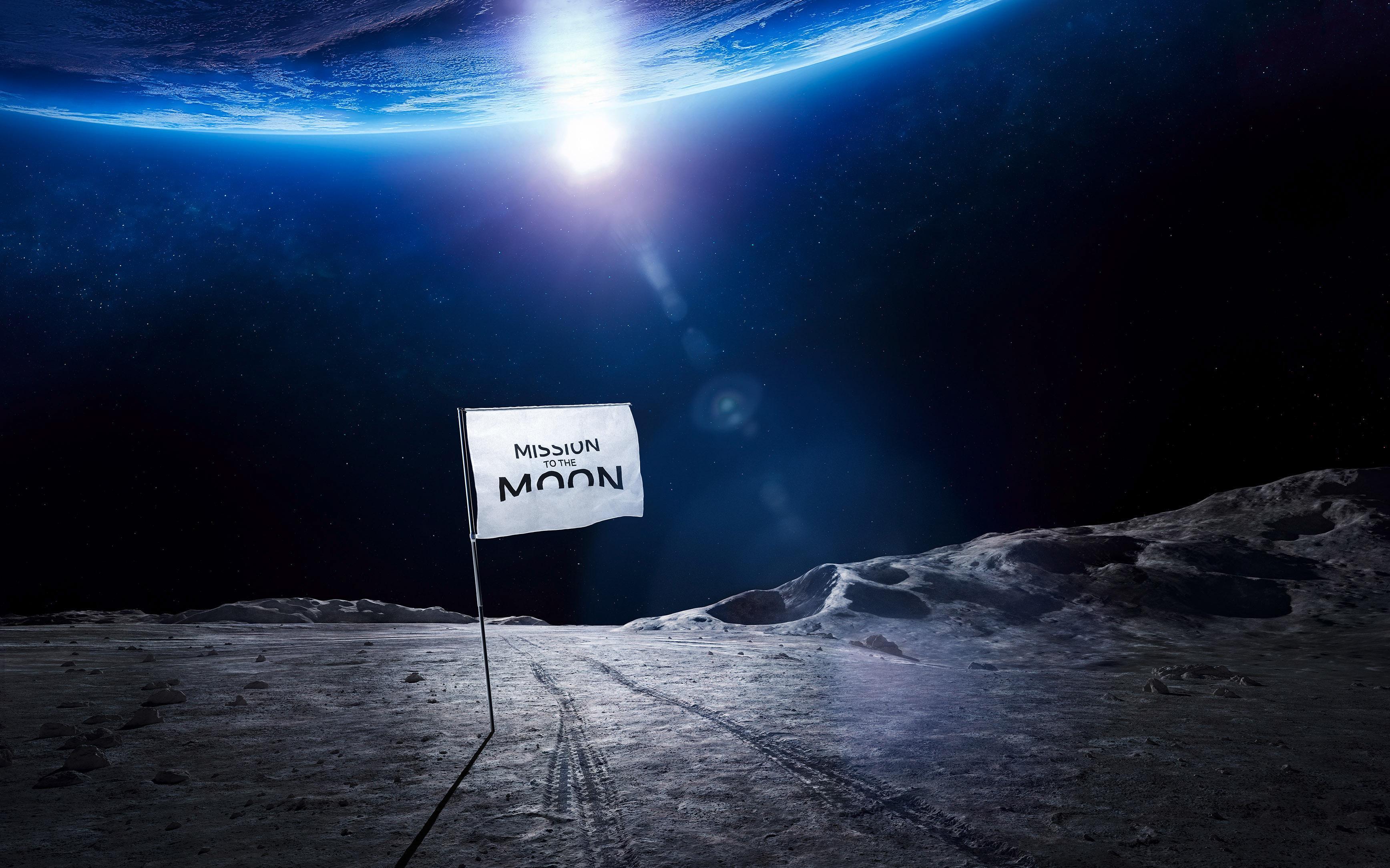 Полет на Луну. обои скачать