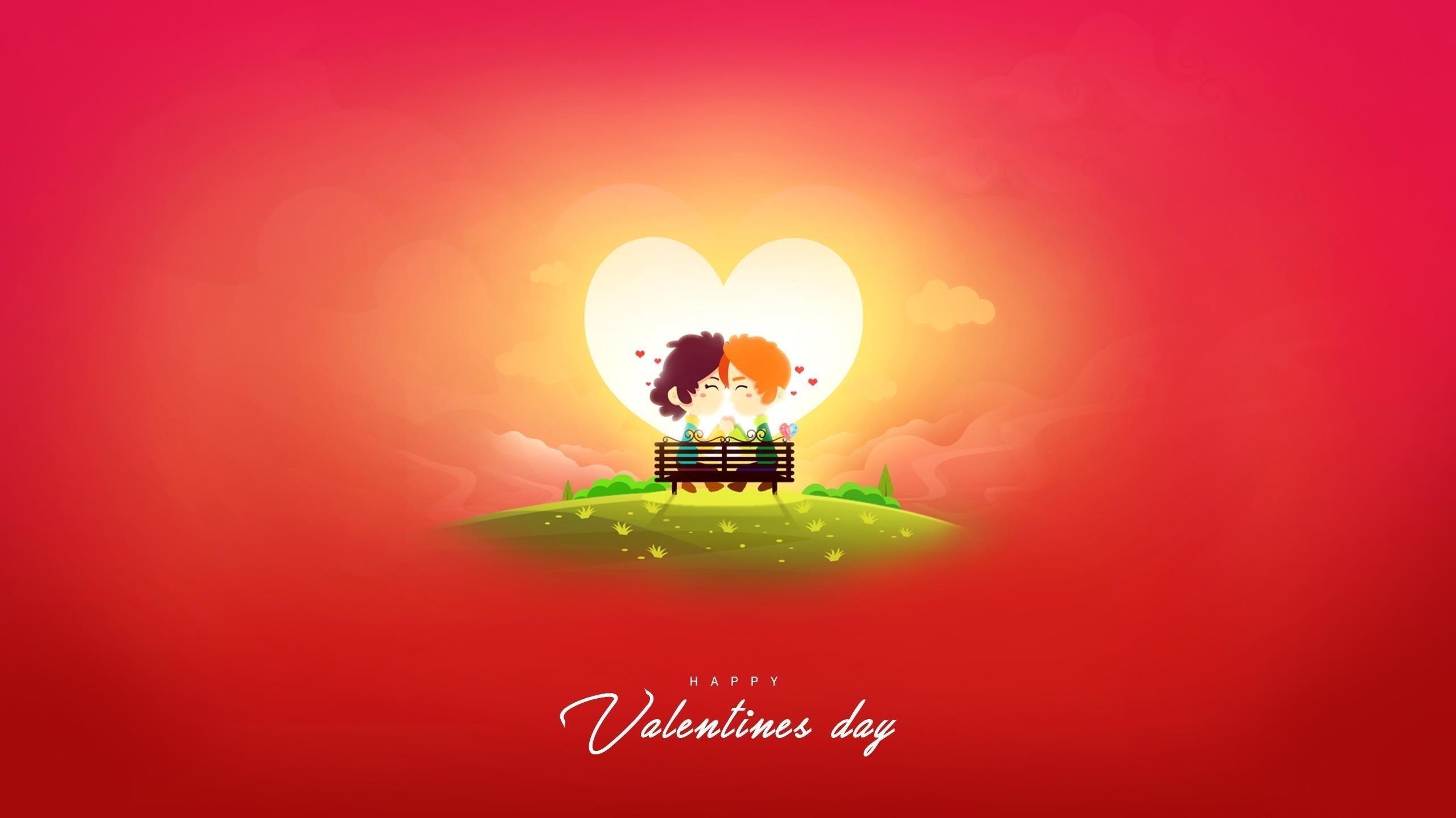 С Днем святого Валентина 2019 обои скачать