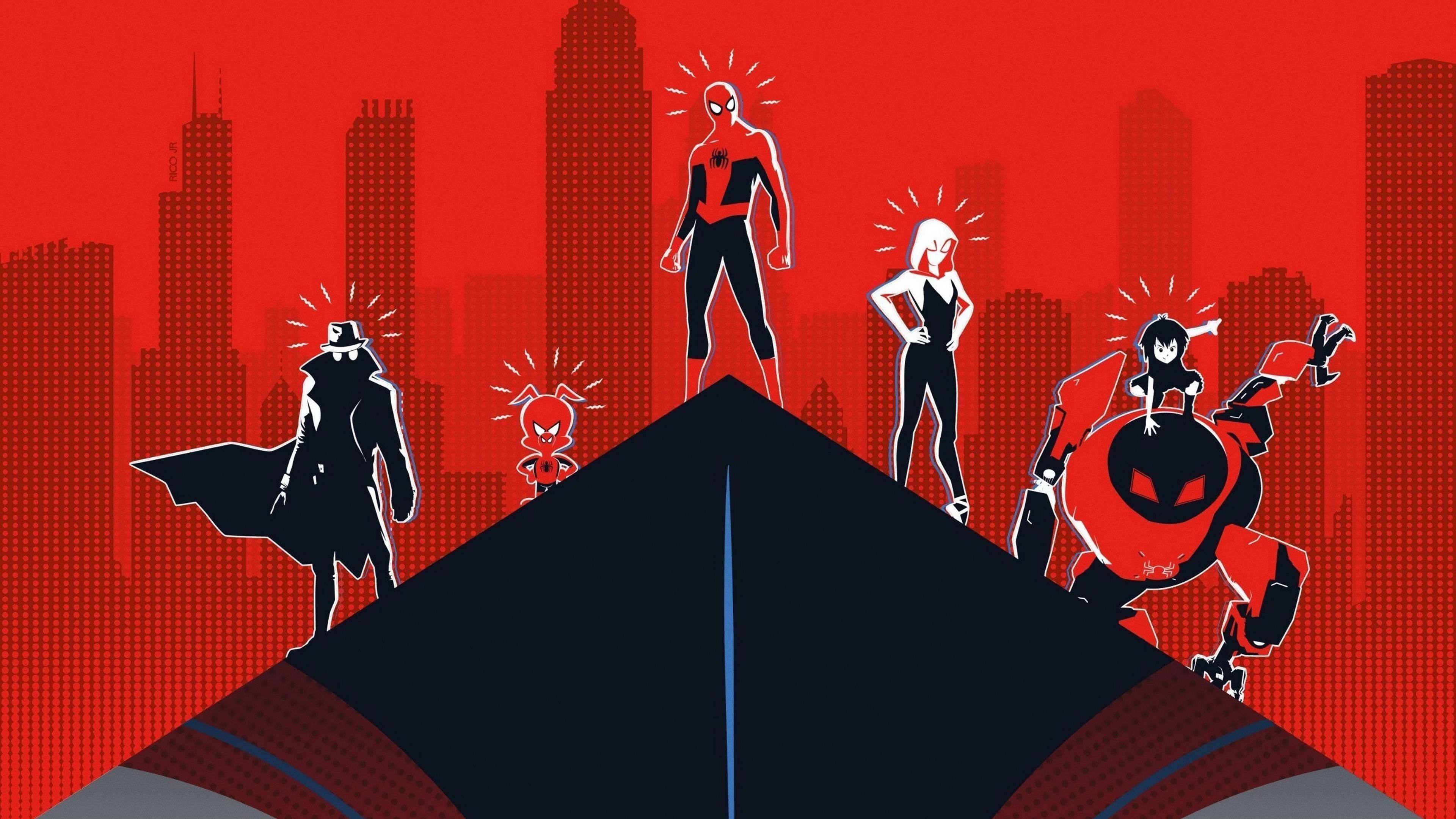 Человек-паук в паук-стих обои скачать