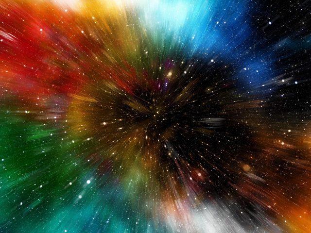 Красочные звезды движение абстракция