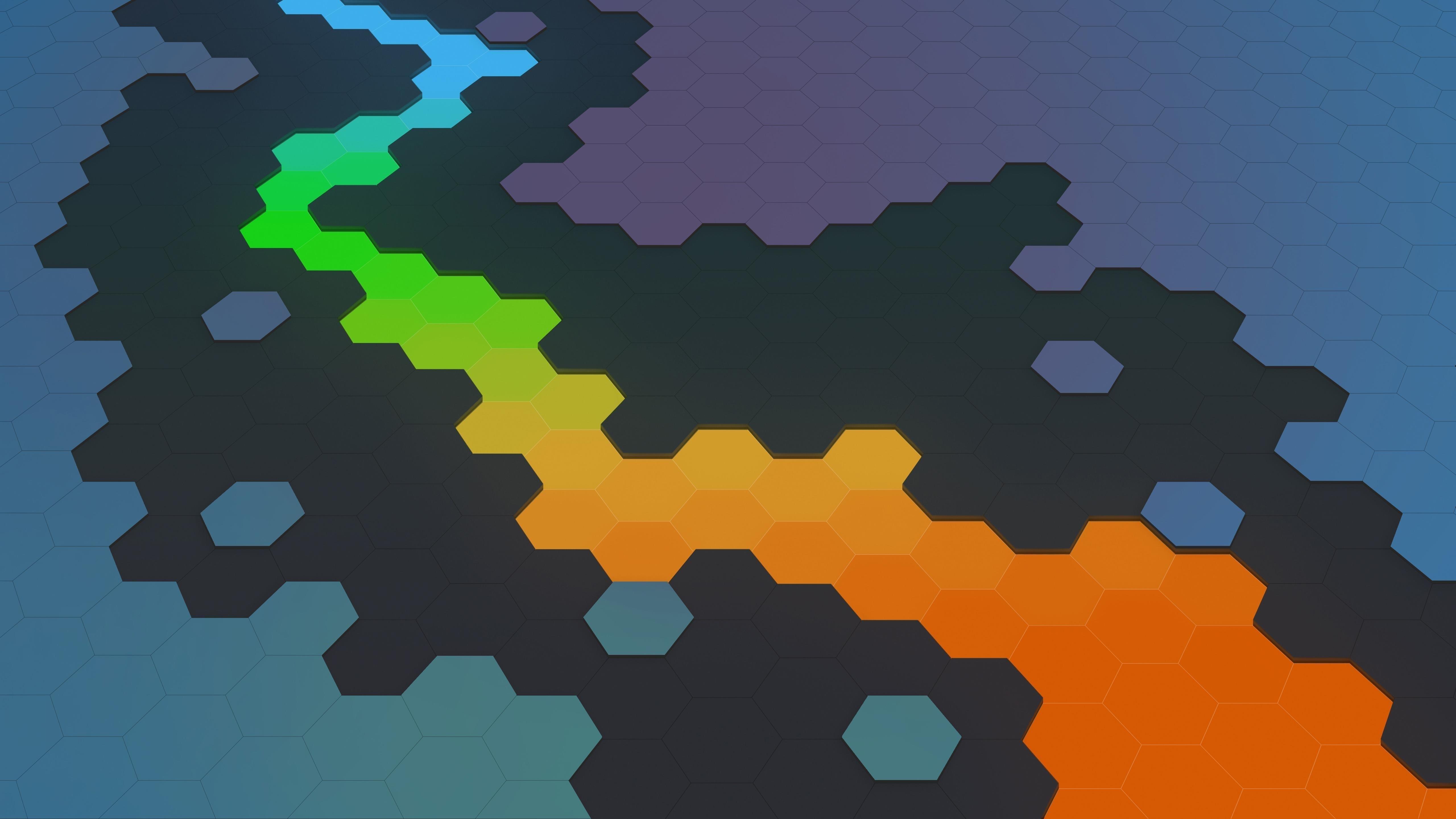 Абстрактный шестиугольник аннотация обои скачать