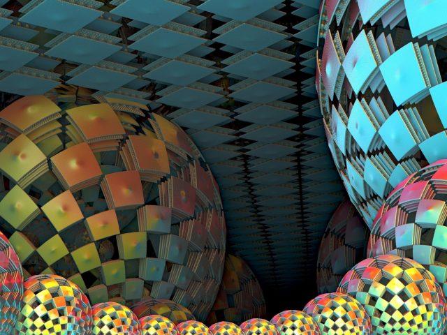 3d цветные квадратные шары абстрактные