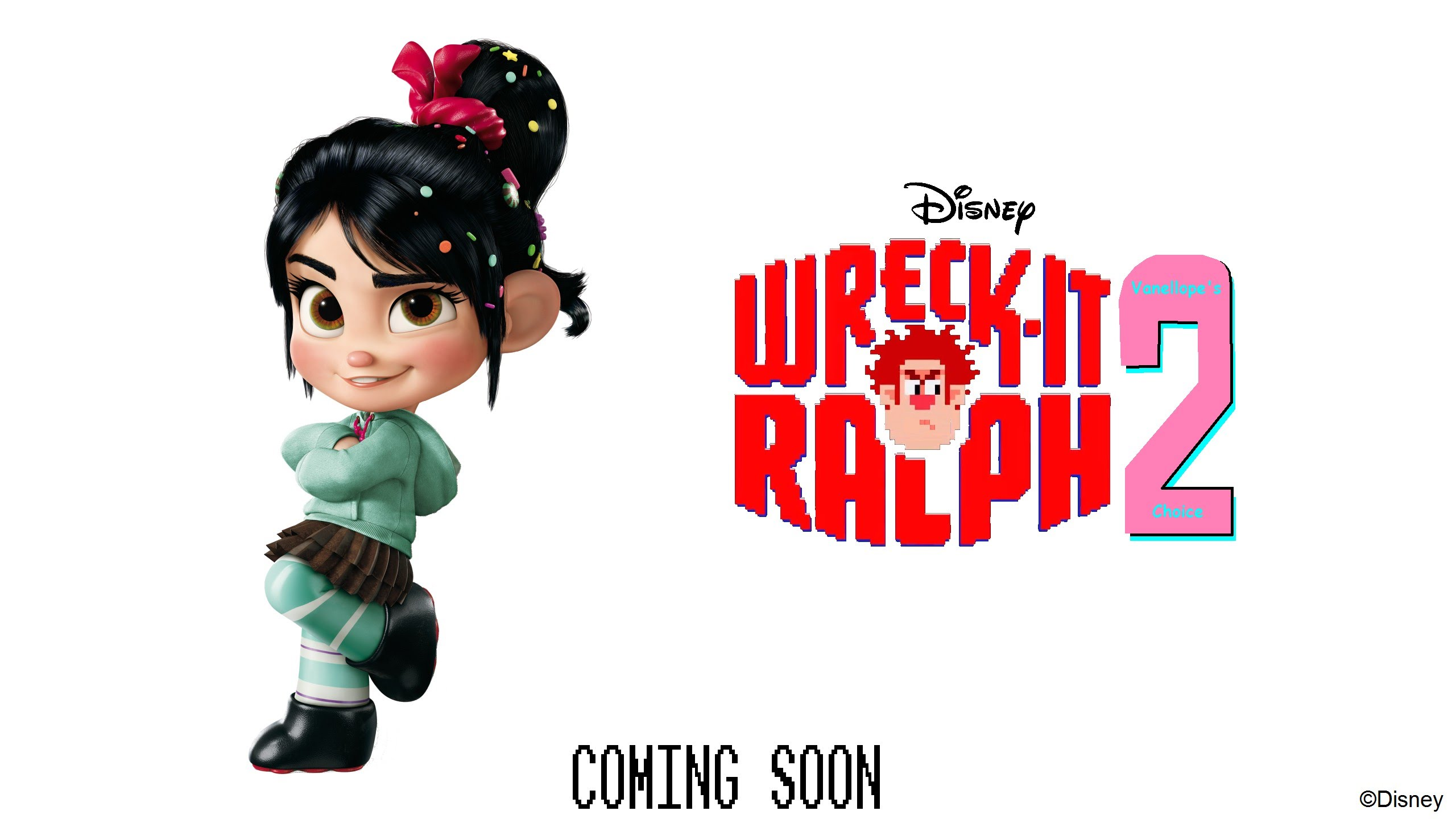Vanellope wreck it ralph 2 2018. обои скачать