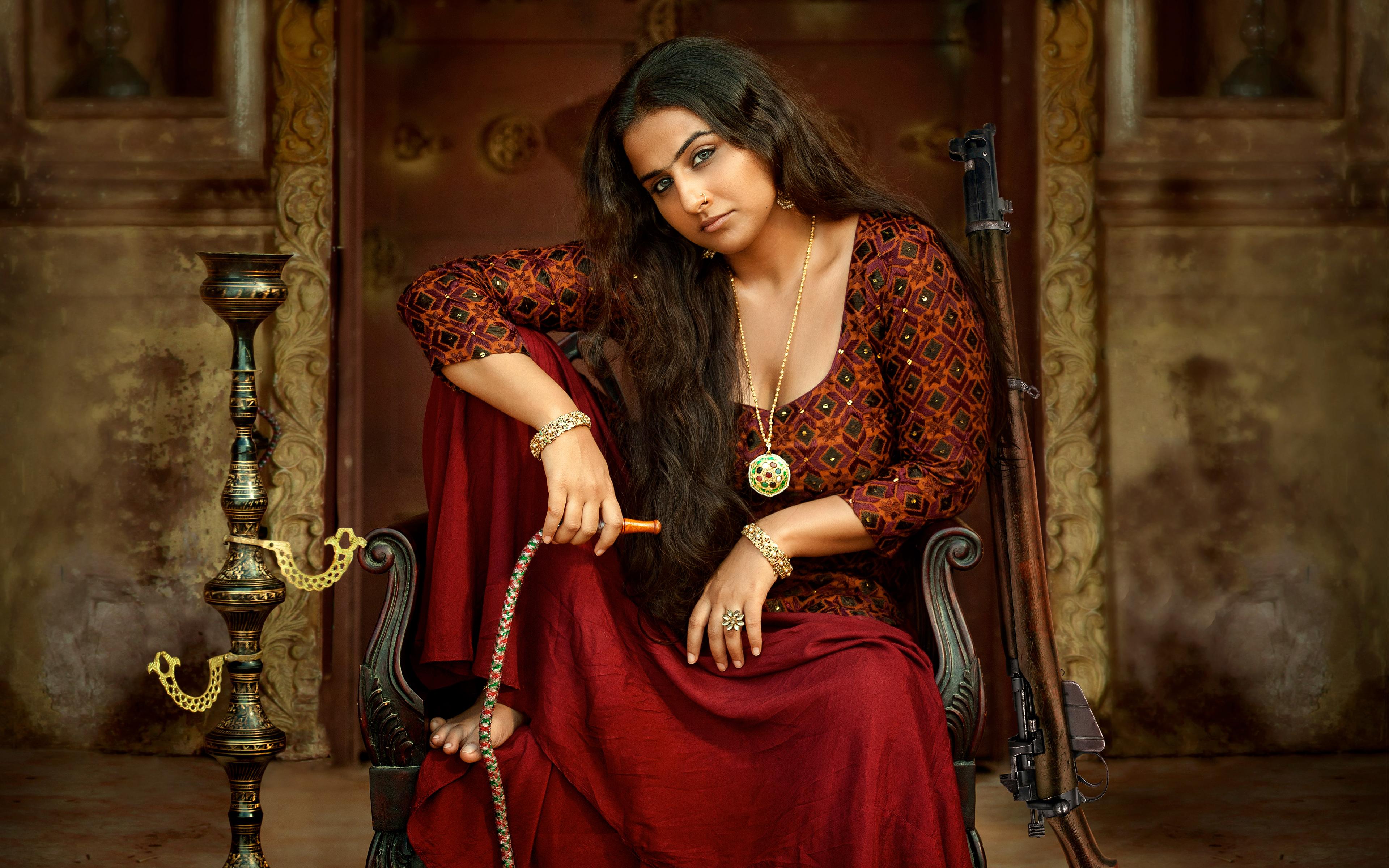 Vidya balan hot in begum jaan. обои скачать