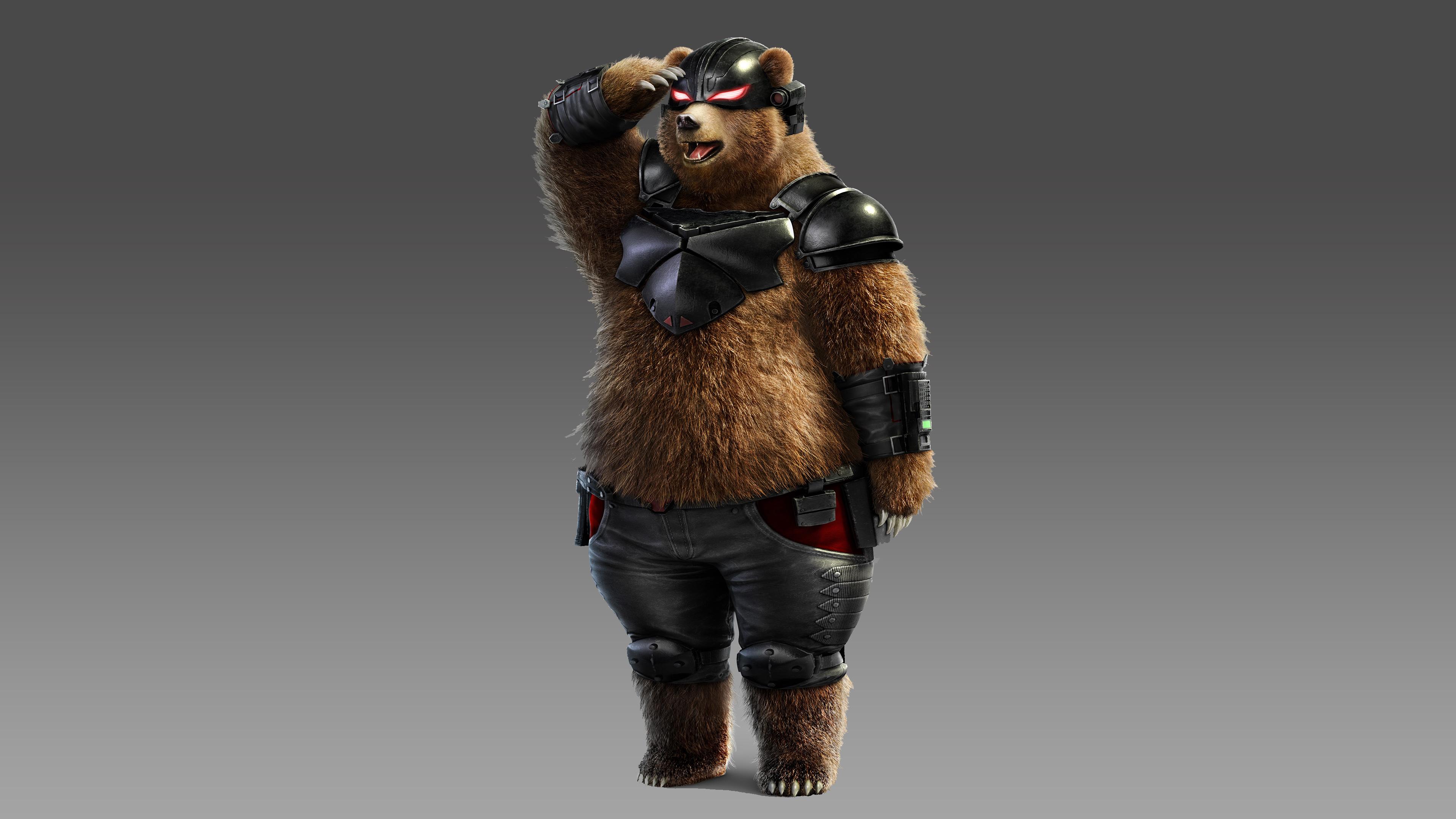 Теккен 7 медведь панда. обои скачать