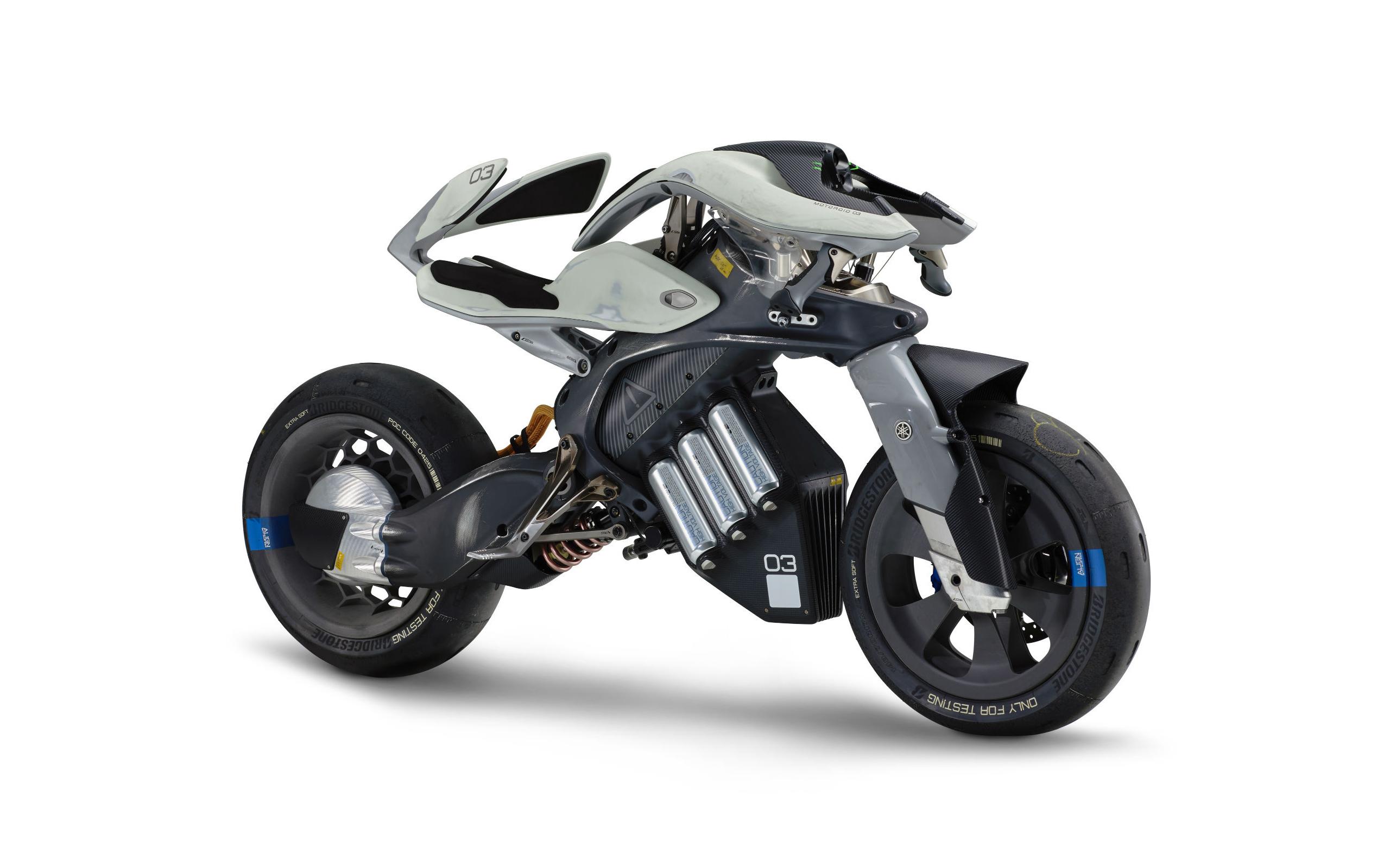 Футуристичный концепт Ямаха motoroid обои скачать