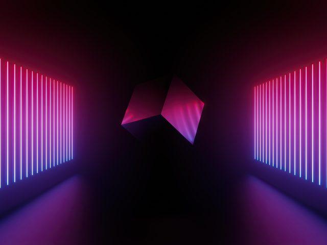 3d художественные линии куба абстрактные