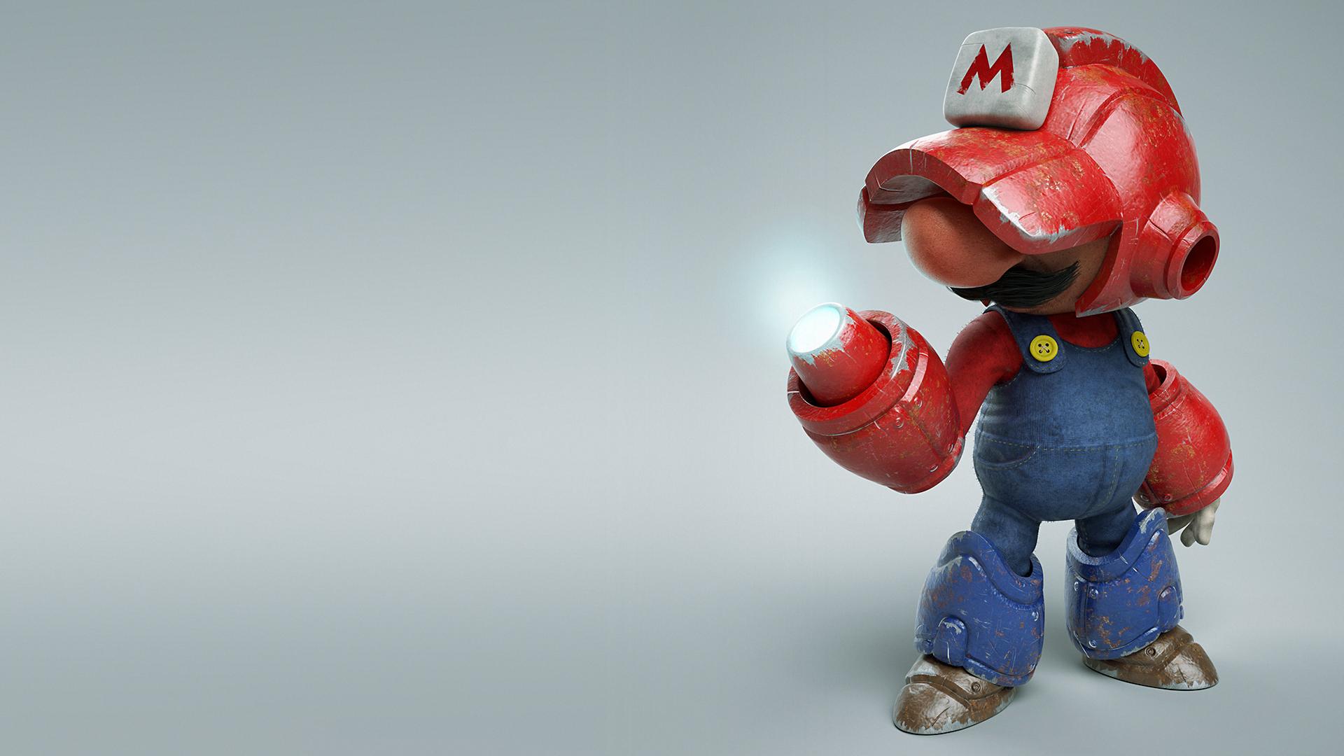 Мега Марио. обои скачать