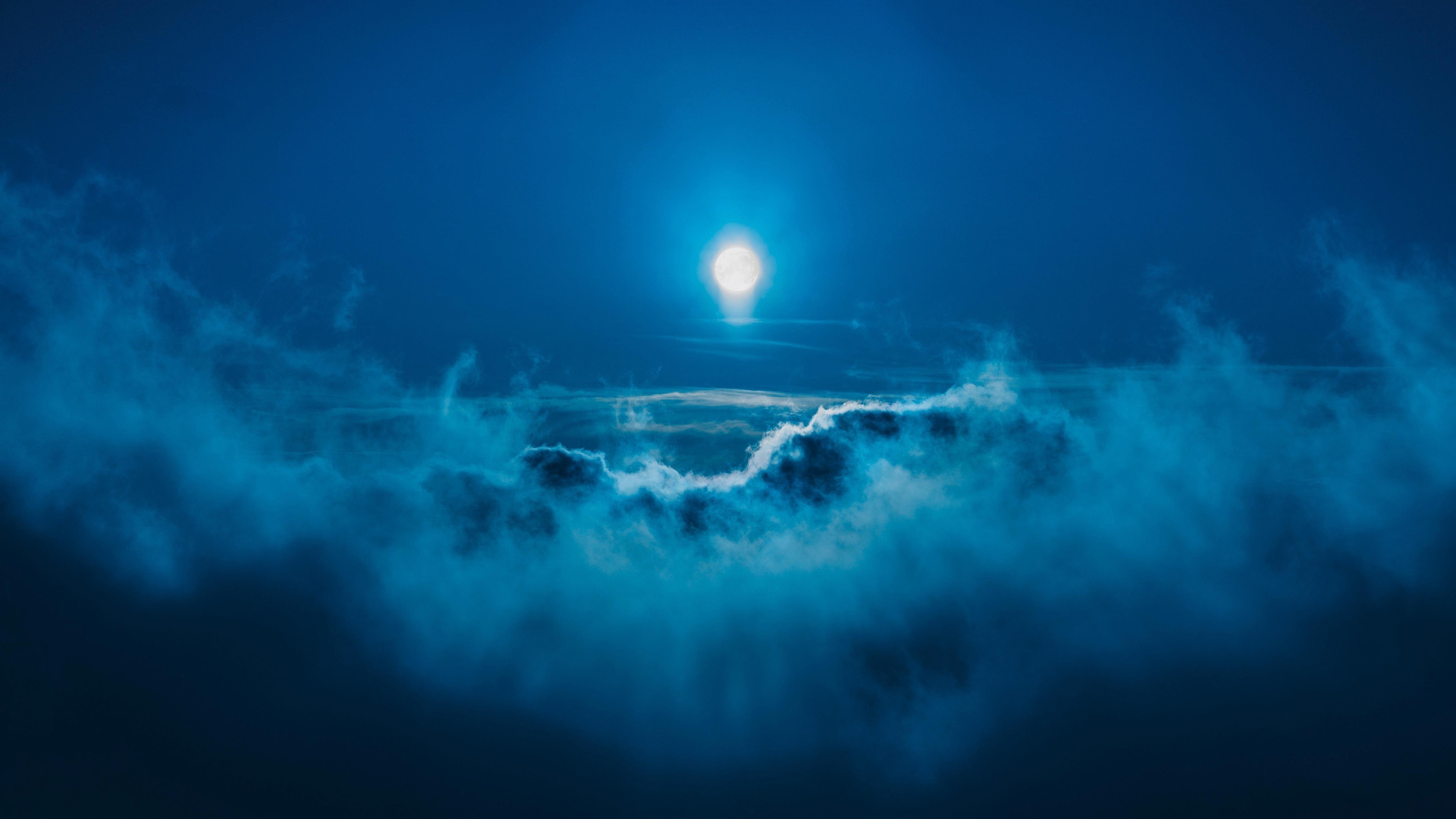 Лунная ночь обои скачать