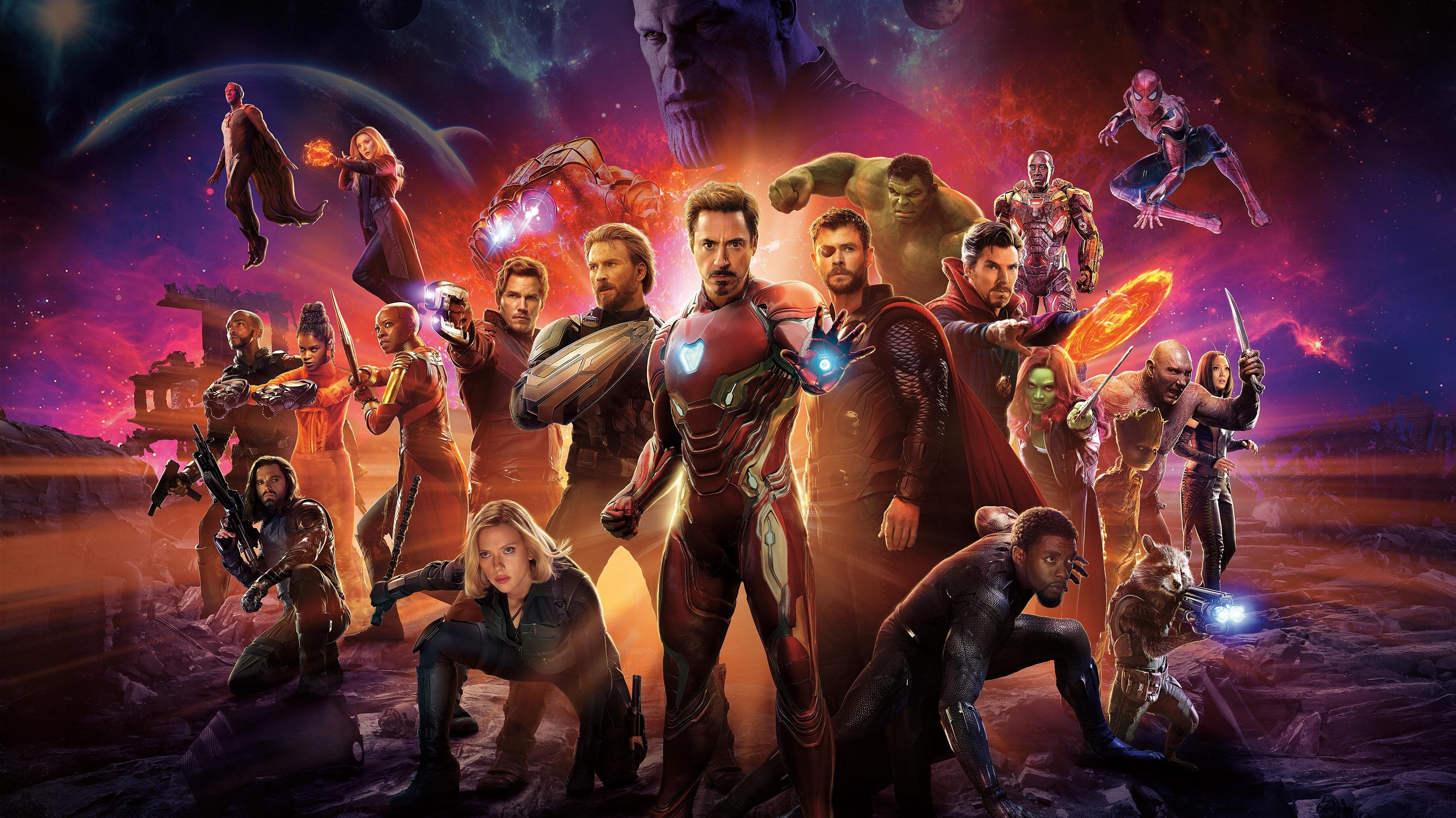 Мстители бесконечность войны супергерои В ролях обои скачать