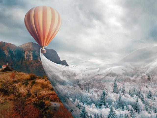 Горячий воздух воздушный шар фэнтези