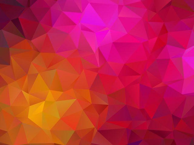 Желто розовый треугольник геометрическая абстракция