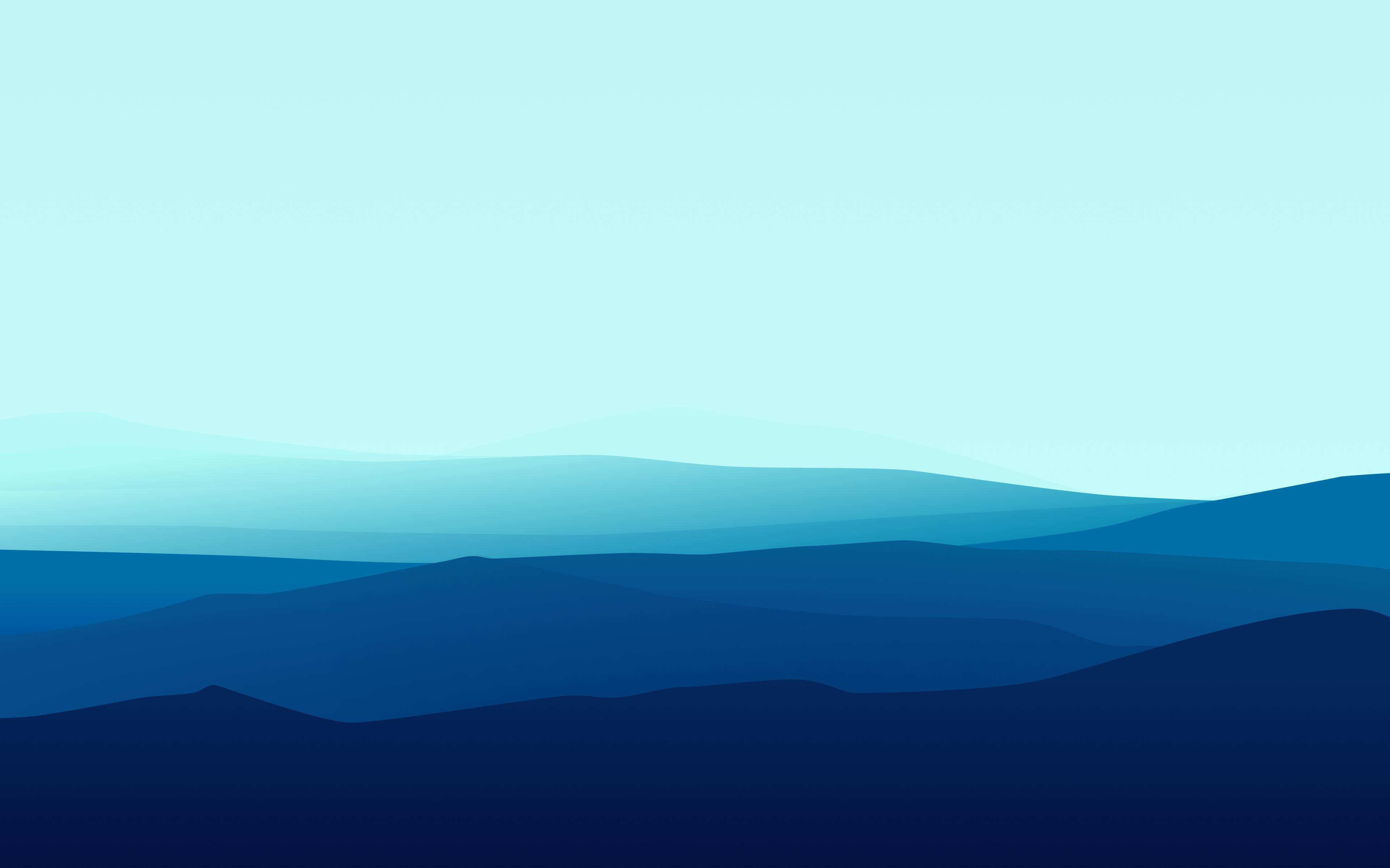 Минимальные голубые горы обои скачать